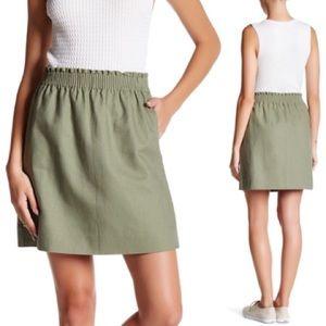 NEW J. Crew Sidewalk Linen Lined Skirt 6